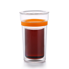 Двостінна склянка Sama Doyo з пластиковим кільцем, 350 мл
