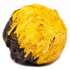 Шен пуер «Драконяче яйце з жовтою хризантемою», 2016 р.