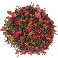 Зелений чай з пелюстками троянди