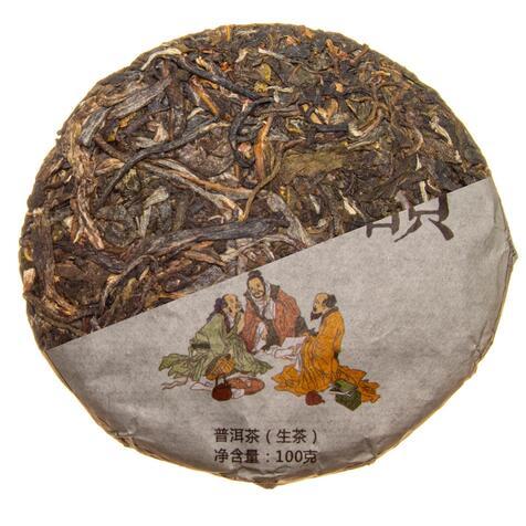 Шен Пу Эр «Три мудреца Сань-Син» 100 гр., 2013 г.