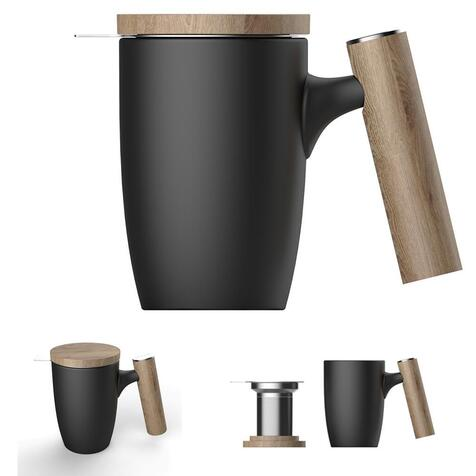 Чашка-заварник Wooden Brew Mug TM450-05A, 450 мл.