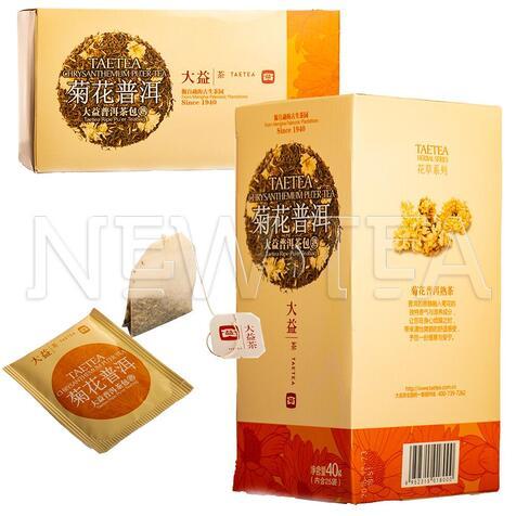 Шу пуер Менхай Да І з хризантемою, 25 пакетиків