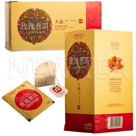 Шу Пуэр Менхай Да И с розой (25 пакетиков)