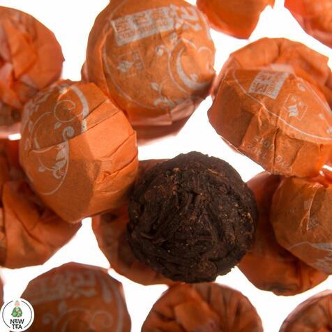 Шу пуер Юньнань з апельсином, міні-точа