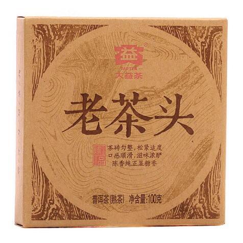 Шу пуэр Менхай «Да И Старый чайный самородок» 2014 г, 100 г