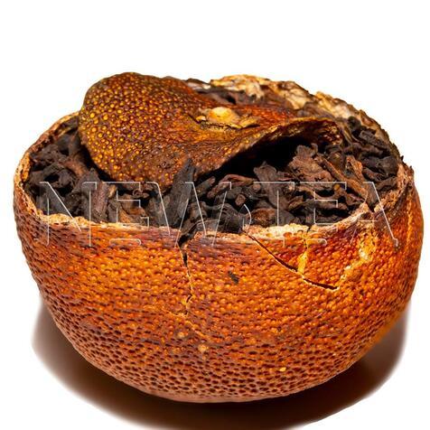Шу пуер у мандарині